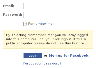 By selecting 'remember me' you will stay logged into this computer until you click logout. If this a public computer please do not use this feature.